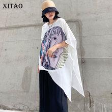 XITAO Print Pattern Plus Size Split Top 2 Pieces Set Women C