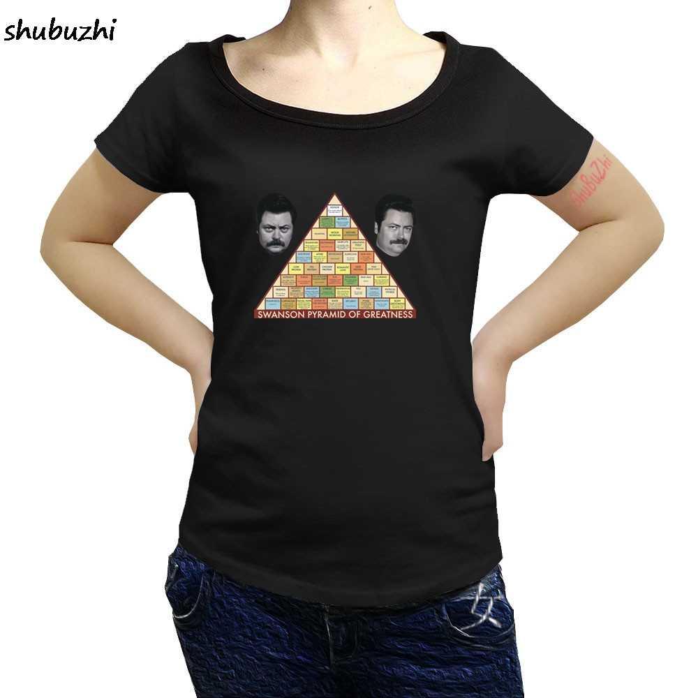 Ron Swanson parcs et loisirs pyramide de la grandeur femmes t shirt Cool décontracté fierté femmes t shirt hommes nouveau shubuzhi sbz3103