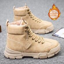 Martin botas de inverno novo estilo retro e algodão botas de alta qualidade botas de trabalho masculino moda quente botas masculinas