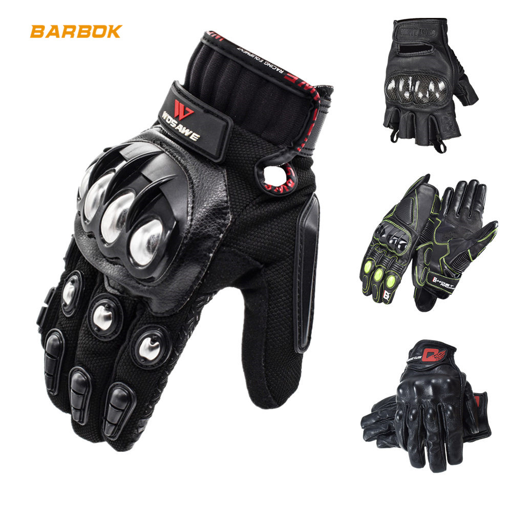 Image 1 - WOSAWE Touch Screen Sports Motorcycle Gloves Men PU Leather Windproof Wearable Non slip Off Road MTB Motocross Gloves-in Gloves from Automobiles & Motorcycles