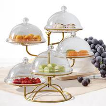 Фруктовая подставка Многослойная без крышки стойка для закусок лоток для торта для гостиной кухни круглая основа полый кронштейн для посуды металлическая полка для фруктов