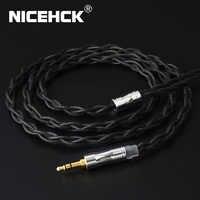 NICEHCK C4-1 monocristal cuivre argent plaqué câble 3.5/2.5/4.4mm prise MMCX/2Pin/QDC/NX7 broche pour NX7/F3 Moondrop QDC TANCHJIM