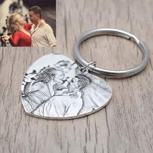 Custom Calendar Keychain, Personalized Picture Keychain,Engraved Photo Keychain,Calendar Keyring,Valentines Gift