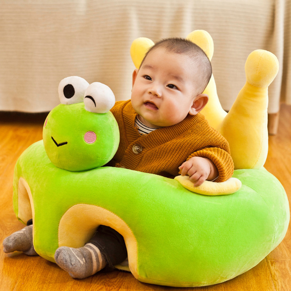 Sofa Support Seat Cover Baby Plush Chair Learning To Sit Toddler Nest Washable PP Cotton Filler Cradle Sofa Chair