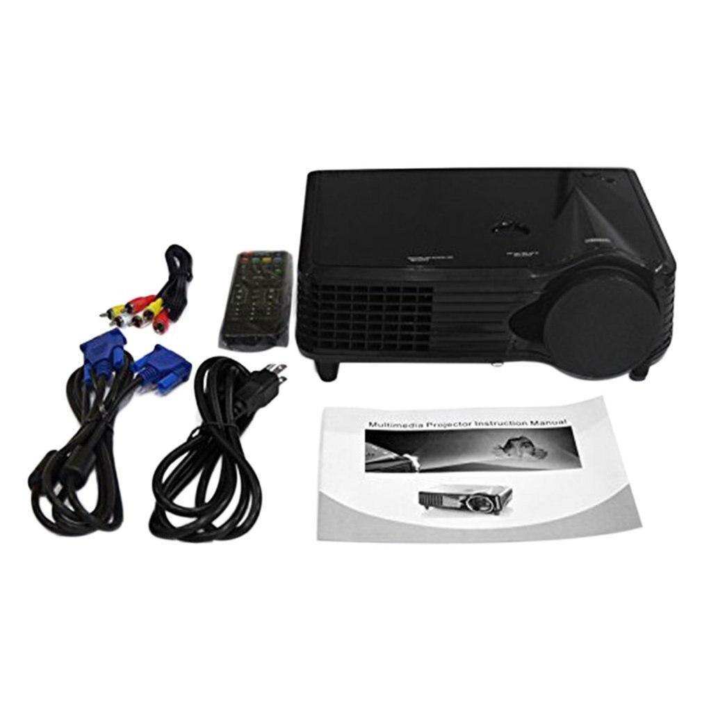 Projecteur LED LCD haute définition Compact et Portable 800*480 2000 Lumen HD Home cinéma HDMI VGA AV USB