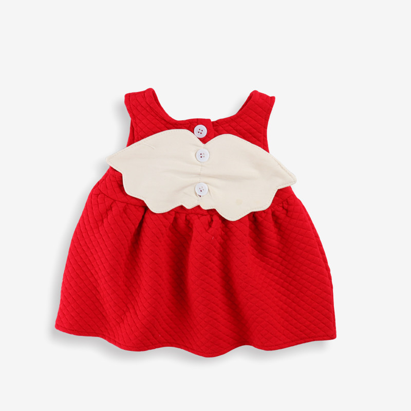 Newborn Baby Dress 2020 Winter Plus Velvet Party Clothing Toddler Petals Decoration Events Birthday Christening Dresses 0-2Y