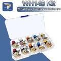 WH148 Potentiometer Kit B1K 2K 5K 10K 20K 50K 100K 250K 500K 1M 15mm Linear Taper Rotary Widerstand Set 3pin Mit Kappe