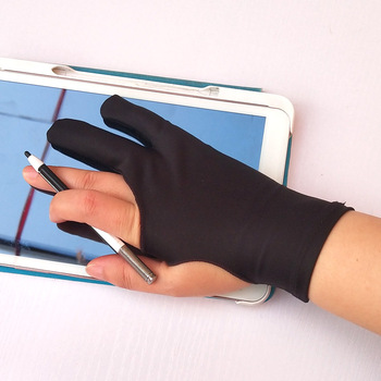 1 Piece Black Screen Touch Glove Special-use Antifouling Drawing Gloves for Tablet Fine Arts Sketch Painting Student 1
