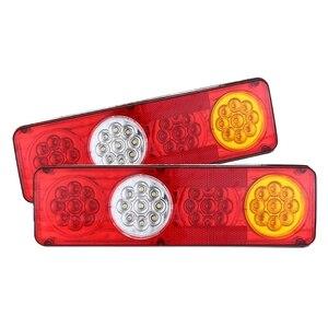 Image 2 - 1 Đôi Chống Thấm Nước Xe Tải Xe Tải 12V 24V 36 Đèn LED Dây Tóc 3 Màu Chỉ Báo Đèn Sau Cho Xe Tải xe Kéo Xe Phụ Kiện