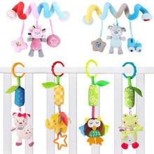 Bebê recém-nascido brinquedos de pelúcia bebê coelho chocalhos celulares dos desenhos animados animal pendurado sino 0-12 meses brinquedos educativos do bebê