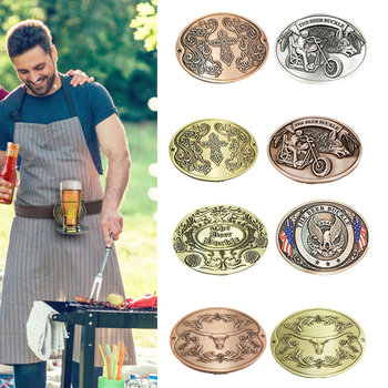 Belt Buckle Beer Holder Camping Picnic Wine Can Holder Metal Heavy Duty Hand Bag Portable Bottle Buckle Belt Buckle Beer Holder