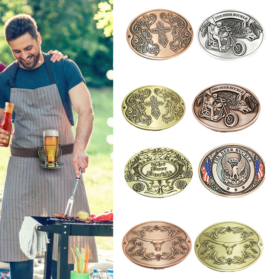 Men Belt Buckle Outdoor Beer Holder Funny Buckles For Camping Picnic Wine Can Holder Portable Multifunction Hot