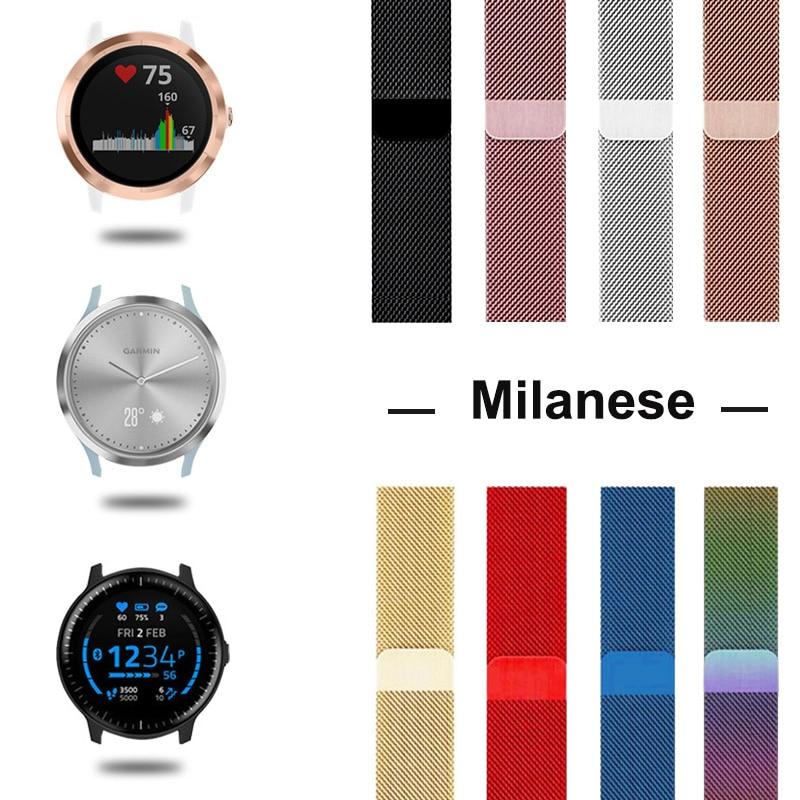 Metal Band Garmin Vivoactive 3 Strap For Garmin Vivoactive3 4/Vivomove HR/Forerunner 645 Smart Bracelet Watch Strap Accessoires
