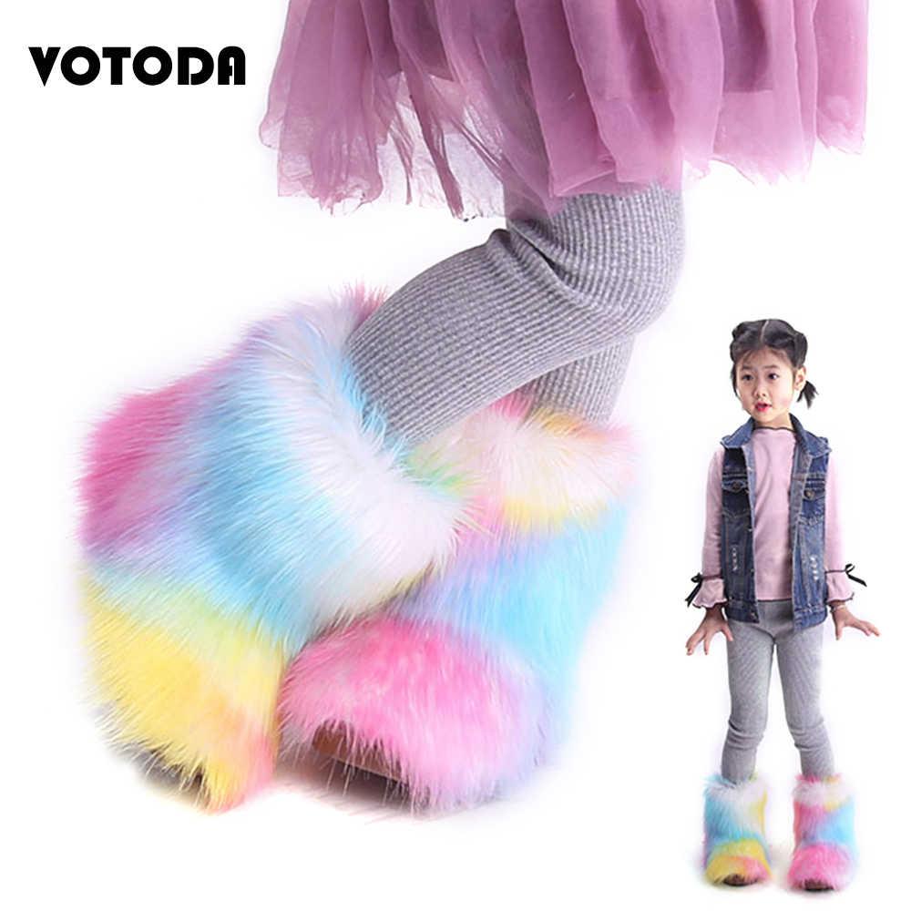 Winter Warm Children Fur Snow Boots