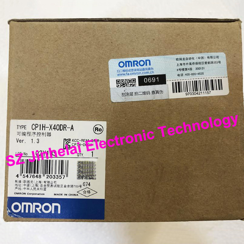 100% New and original CP1H-X40DR-A  OMRON Programmable controller