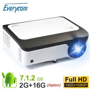 Image 1 - Everycom L6 1080p 풀 HD 프로젝터 네이티브 1920*1080 미니 휴대용 LED 비디오 프로젝터 WIFI 스마트 안 드 로이드 Beamer 아이폰에 대 한