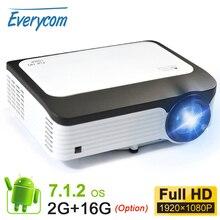 Everycom L6 1080p מלא HD מקרן Native 1920*1080 מיני נייד LED וידאו מקרנים WIFI החכם אנדרואיד Beamer עבור Iphone