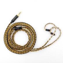 TRN T1 cable de auriculares chapado en oro y plata para V80, V90, V30, V20, V10, V60, X6, AS10, T2, S2, DT8, P1, DT6, DMG