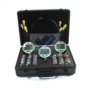 Цифровой манометр комплект с 3 манометрами, 3 тестовых шланга, 24 муфты с быстрым разъемом для CAT Чехол Komatsu Гарантия 2 года
