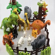 Toys Building-Blocks Whales Bird Monkey Dog Beer Animals Rabbit Compatible Children Zoo-Sheep
