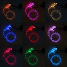 6M RGB Light LED Car Interior Neon Strip Sound Active Bluetooth Phone Control Decor Atmosphere Lights
