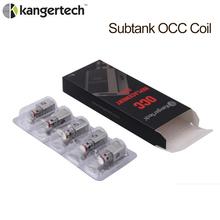 5 sztuk autentyczne Kanger Subtank OCC 0 2 0 5 1 2 1 5ohm pionowe cewki OCC cewki dla Subtank Mini Nano Plus Atomizer E zestaw papierosów tanie tanio OCC coil lot (5 pieces lot) 0 012kg (0 03lb ) 5cm x 5cm x 5cm (1 97in x 1 97in x 1 97in)