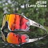 Acexpnm polarizado mountain bike ciclismo óculos de ciclismo esportes ao ar livre óculos uv400 4 lente ciclismo óculos de sol das mulheres dos homens 9