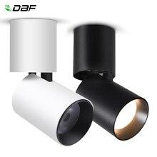 [[DBF]] Có Thể Gấp Gọn LED Bề Mặt Gắn Đèn Downlight 7W 12W Đen/Trắng Nhà Ở 360 Độ Xoay Được 3000K/4000K/6000K Âm Trần Chiếu Điểm