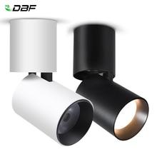 [DBF] 접이식 LED 표면 장착 Downlight 7W 12W 블랙/화이트 하우징 360 학위 회전 3000K/4000K/6000K 천장 스포트 라이트