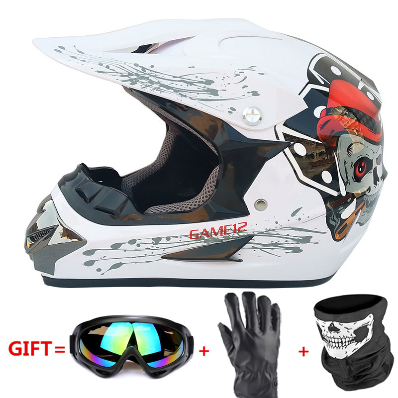 Motorcycle Full Face Helmet Casco Moto Off Road Helmet ATV Dirt Bike Downhill MTB DH Capacete Moto Glasses Motocross Helmet
