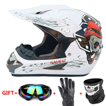 Motorcycle Full Face Helmet Casco Moto Off Road Helmet ATV Dirt Bike Downhill MTB DH Capacete Moto Glasses Motocross Helmet стоимость