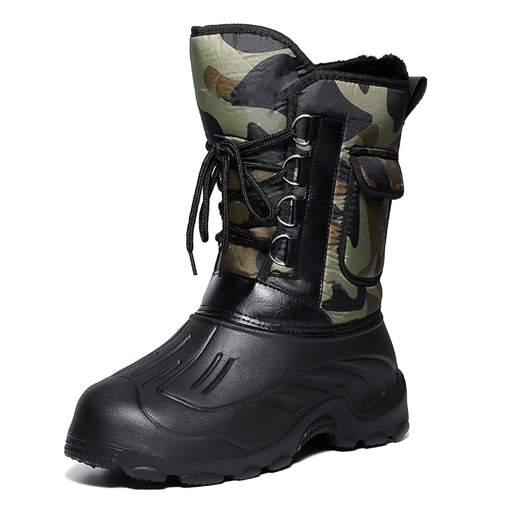 Men Winter Snow Boots Waterproof Insulated Outdoor Hunting Hiking Shoes Best Sale-WT image