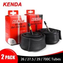 Kenda Tubo interno de caucho butílico para llanta de bicicleta, cinta de butilo con válvula presta o schrader, para interior de neumático de bicicleta de ruta o de montaña, 26, 27,5, 29, 700c, 2 piezas