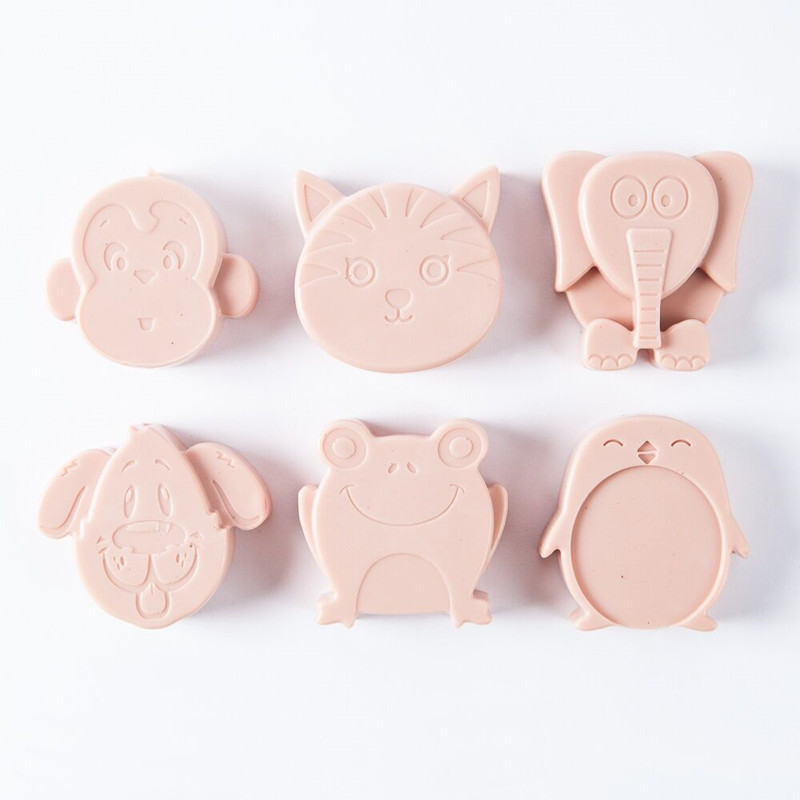6-Cavity Kids Animals Silicone Soap Mold Chocolate Candy Bath Bomb Molds DIY Soap Making Tool