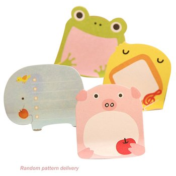 Creative Cartoon Animal Practical Sticky Post Cute Small Fresh Note Sticker Notepad Small Gift For Children image