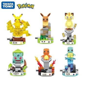 6 Style Pokemon Series Children's Building Blocks Splicing Toys Pocket Monster Elf Ball Pikachu Dolls Blocks Kids DIY Toy 1