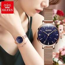 Модные женские кварцевые наручные часы Звездный циферблат Повседневный