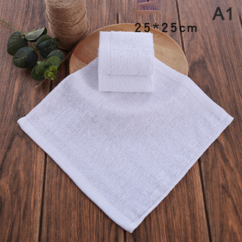 1pc Soft White Face Towel Small Hand Towels Square White Kitchen Towel White Towel Face Towel Home Bathroom Hotel Adult Pure image