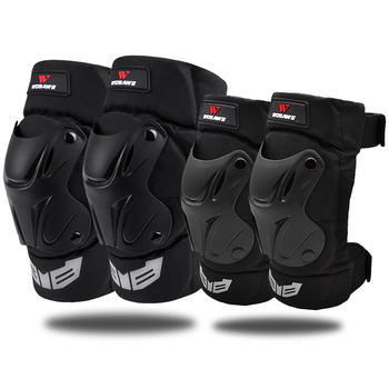 WOSAWE Adult Cycling Knee Elbow Pads Set Motorcycle Skateboard Brace Guards Protector Bike Racing Skiing Skate Protective Gear 1 pair protective cycling guards waterproof gear safety adjustable equipment riding thicken warm motorcycle knee pads pu racing