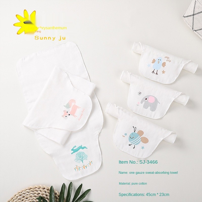 Baby Diaper Changing Mat Sweat-absorbent Towel Children's Combed Gauzes Nursery Cotton Gauze Pad Cover Back Sweat Towels
