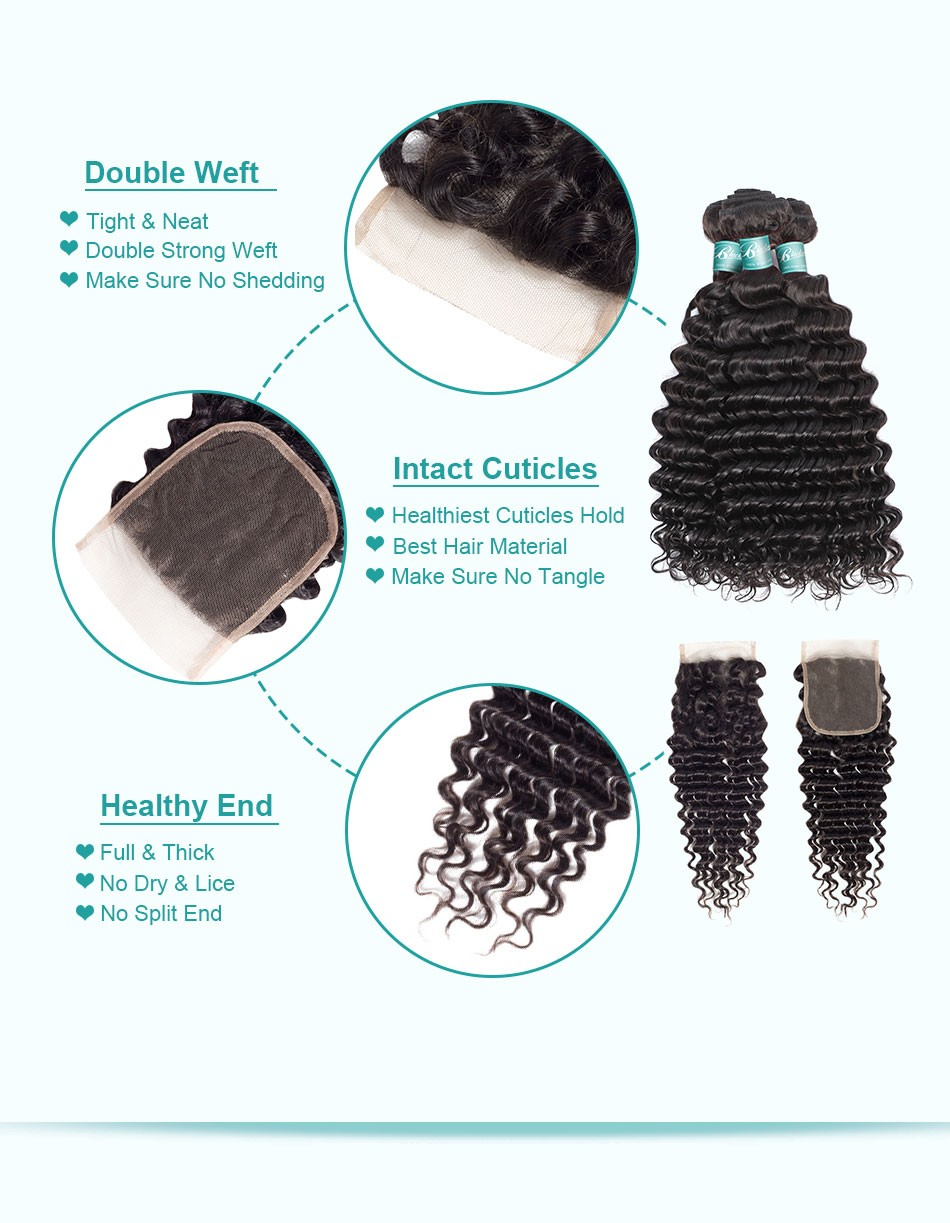 deep wave hair weave bundles with closure--3+4_07