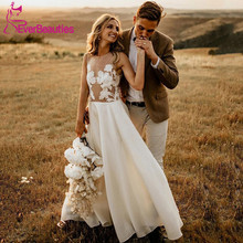 Beach Wedding Dresses 2020 Vestidos De Noiva Doura Boho Bride Dress Gowns Robe Mariee