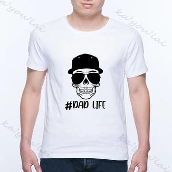 Camiseta divertida de papá, camiseta de Calavera, gafas de sol de moda, camiseta de papá real, camisetas gráficas Harajuku para el Día del Padre, camisetas para hombres