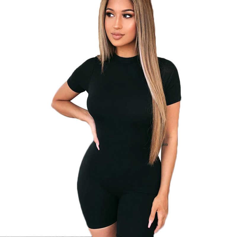 Seksi tulum Romper şort tulum kulübü yaz siyah kadın giyim Bodycon Bodysuit Dropshipping fermuar Femme Catsuit elbise
