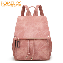 POMELOS Female Backpack 2019 Fashion Women PU Leather High Quality Bagpack For School Travel Back Pack