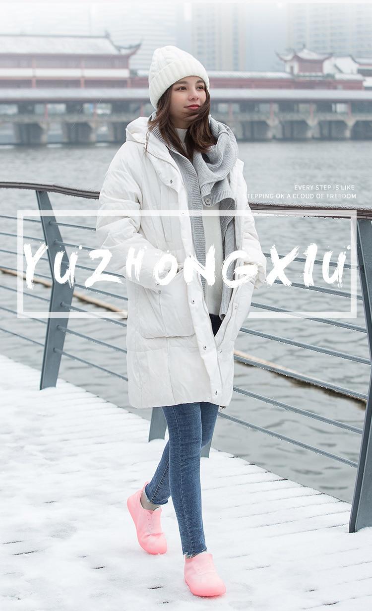 Men Women Wear Low-profile Rain-proof  Snow Rain Boots Shoe Cover Latex Waterproof Overshoes Shoes Accessories Slip-resistant