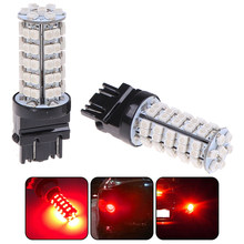 2Pcs Red Yellow White 3157 68-SMD LED Light Bulbs Brake Tail Stop Lights 3057 3457 3528(China)