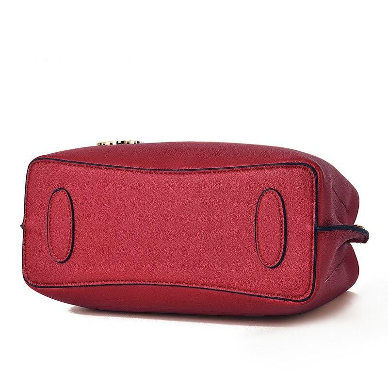 Модные женские сумки, сумки из натуральной кожи, Аллигатор, высокое качество, молния, дизайн, черный, красный, женские Офисные Сумки - 4