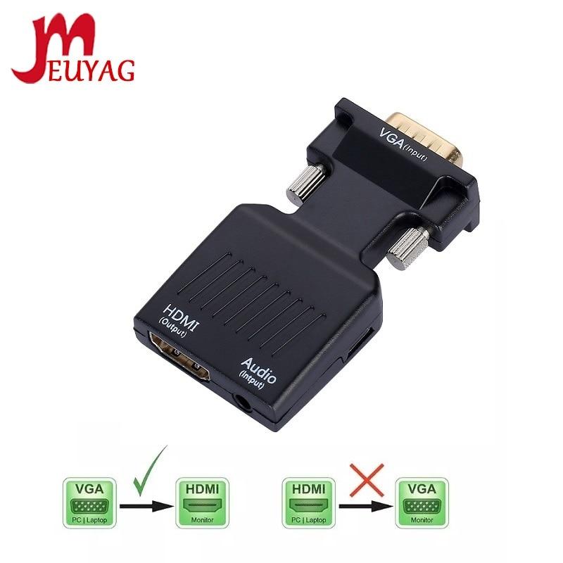 MEUYAG преобразователь из VGA в HDMI кабель 1080P/720P VGA HDMI адаптер аудио вход питания для HDTV монитор проектор ПК ноутбук TV-BOX PS3