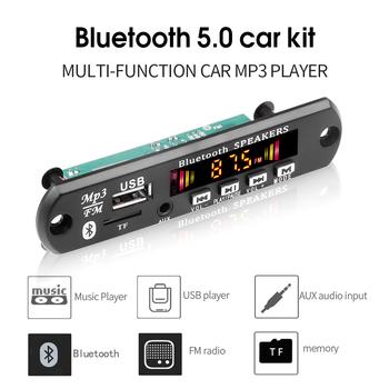 Wzmacniacz DC 5V 6W płyta dekodera MP3 Bluetooth V5 0 samochodowy odtwarzacz MP3 moduł nagrywania USB Radio FM AUX do głośnika zestaw głośnomówiący tanie i dobre opinie kebidu NONE 0 035kg 106*25 (mm) Hands-free MP3 Player Decoder Board W desce rozdzielczej Angielski 2*3W 87 5-108 5mhz
